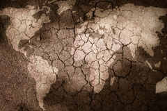 Map of the world. World Map on textured surface Royalty Free Stock Images