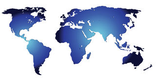 A map of the world Stock Photography