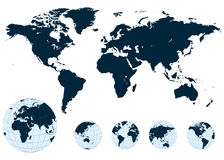 Map of the world vector. Stock Images