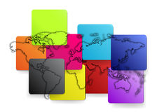 Map of the world. stock illustration