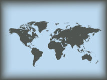 Map of world. Vector illustration Stock Photos