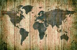 Map of the world. royalty free stock photos