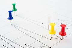 map wykresów rynku zapas Fotografia Royalty Free
