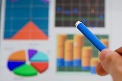 map wykresu ręki target457_0_ Obrazy Stock