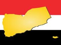 Map of Yemen Royalty Free Stock Images