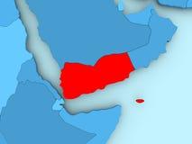 Map of Yemen Stock Image