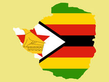 Map of zimbabwe Royalty Free Stock Photo