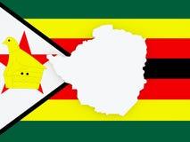 Map of Zimbabwe. Royalty Free Stock Photos