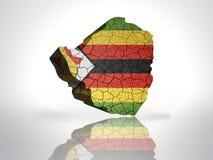 Map of  zimbabwe. With zimbabwean Flag on a white background Stock Photo