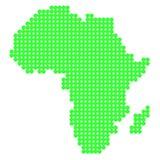 Mapa África del punto Imágenes de archivo libres de regalías