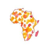 Mapa África del vector Ilustración aislada del vector Fotos de archivo libres de regalías