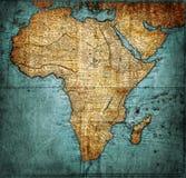 Mapa África del vintage Imagenes de archivo