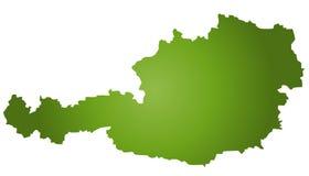 Mapa Áustria Foto de Stock Royalty Free