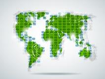 mapa świat royalty ilustracja