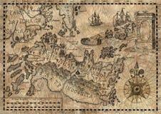 Mapa świat fantazji 2 ilustracja wektor