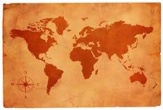 mapa świat stary papierowy ilustracja wektor