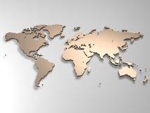 mapa świata Fotografia Royalty Free