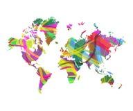 mapa świata abstrakcyjne ilustracji