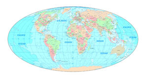 mapa świata politycznego ilustracja wektor