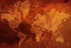 mapa świata roczna Fotografia Stock