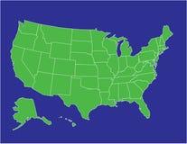 Mapa 02 de Estados Unidos Imagens de Stock
