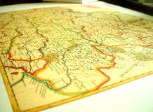 mapa Obrazy Stock