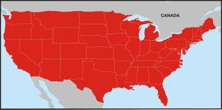 Mapa 2 dos EUA Imagem de Stock Royalty Free