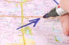 Mapa Zdjęcia Royalty Free