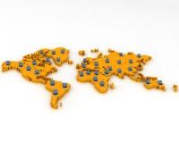 mapa 3d ilustração royalty free
