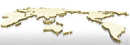 mapa 3d Imagens de Stock