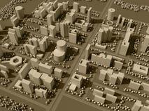 mapa 3d da cidade Fotos de Stock