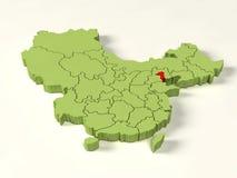 mapa 3d da porcelana Imagem de Stock Royalty Free