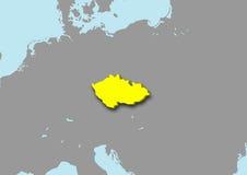 mapa 3d da república checa Foto de Stock Royalty Free