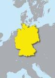 mapa 3d de Alemanha Fotos de Stock