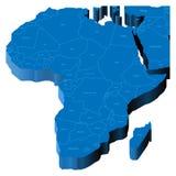 mapa 3d de África Imagem de Stock