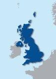 mapa 3d do Reino Unido Imagens de Stock