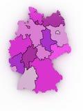 mapa 3d mapa Germany trzy Fotografia Royalty Free