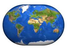Mapa 3D Mundi Stock Foto