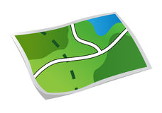 mapa Foto de Stock Royalty Free