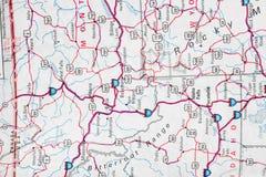 mapa Zdjęcie Stock