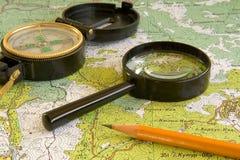 mapa Obraz Stock