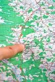 Mapa Imagem de Stock Royalty Free