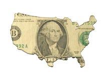 Mapa abstracto con el dinero Foto de archivo