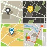 Mapa abstracto de la ciudad ilustración del vector