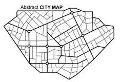 Mapa abstracto de la navegación de la ciudad con las líneas y las calles Esquema blanco y negro del planeamiento urbano del vecto libre illustration
