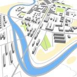 Mapa abstrato da cidade Imagens de Stock Royalty Free