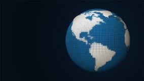 Mapa abstrato da terra Imagens de Stock Royalty Free