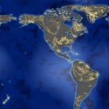 Mapa abstrato da terra Fotografia de Stock