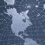 Mapa abstrato da terra da telecomunicação Imagem de Stock Royalty Free