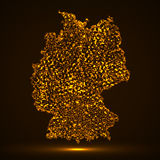 Mapa abstrato de Alemanha Imagens de Stock Royalty Free